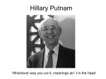 Hillary Putnam - University of San Diego Home Pages