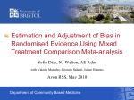 Estimation and adjustment of bias in randomised evidence using