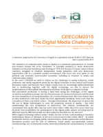 CEECOM2015 The Digital Media Challenge 8th Central and