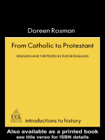 Doreen M Rosman - From Catholic To Protestant- Religion And The People In Tudor And Stuart England (Introductions to History) (1996)