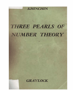 A. Y. Khinchin - Three Pearls of Number Theory (2010)