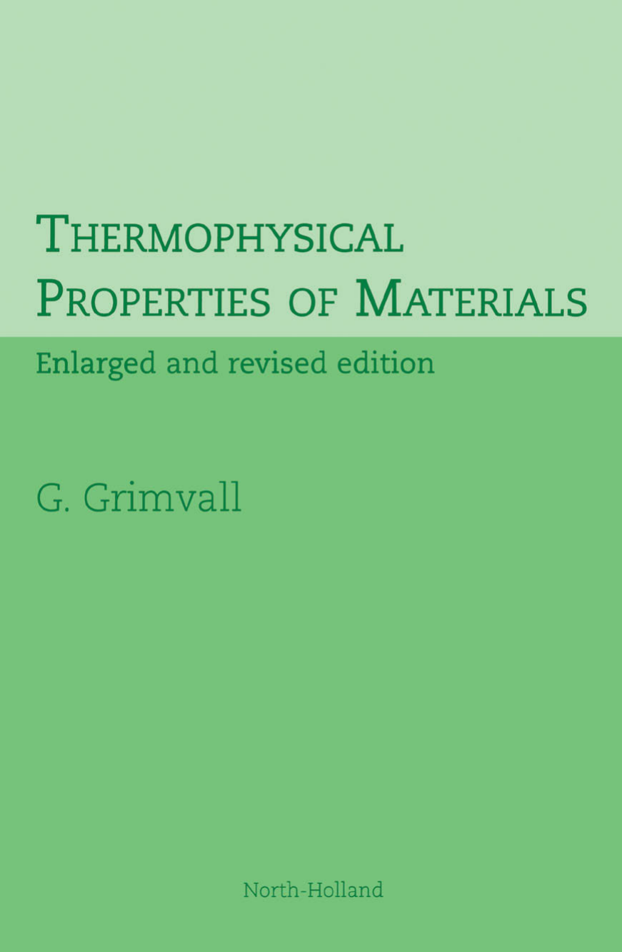 40.G. Grimvall   Thermophysical Properties of Materials 40 ...