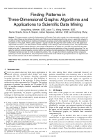 Wang X.  Wang J.T.L.  Shasha D. - Finding Patterns in Three-Dimensional Graphs- Algorithms and Applications to Scientific Data Mining (2002).pdf