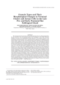 Granule types and their morphological changes in terminal cluster and acinar cells in the late pre- and early postnatal rat sublingual gland.