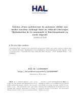 en                                                                    fr                                                                                                                                                                                                            Analysis of power electronic architecture intended for drive–recharging modes in electric vehicle. Optimization of control and degraded mode operation                                                                                                                                Analyse d'une architecture de puissance dédiée aux modes traction–recharge dans un véhicule électrique. Optimisation de la commande et fonctionnement en mode dégradé