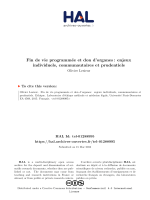 en                                                                    fr                                                                                                                                                                                                            End-of-life decisions and organ donation: individual, communitarian and prudential aspects                                                                                                                                Fin de vie programmée et don d'organes : enjeux individuels, communautaires et prudentiels