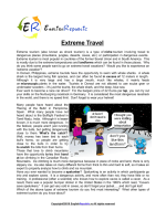 Extreme-Travel (English Topic)