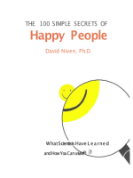 The 100 Simple Secrets of Happy People By David Niven