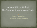 A New Silicon Valley? The State Vs Spontaneous Order