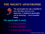 The Mighty Apostrophe (188 K) - Guide to Grammar and Writing