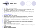 a sample resume format