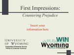 First Impressions - University of Wyoming