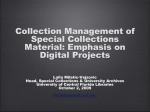 PowerPoint Presentation - Collection Management of Special