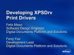 Developing XPSDrv Print Drivers