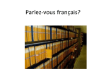 Parlez-vous francais? - Council on Library and Information Resources