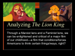 Analyzing The Lion King