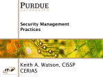 Security Management Practices ()