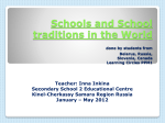 Schools and School traditions in the World done by