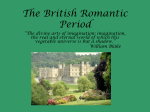 The British Romantic Period - Powerpoint