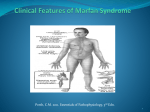 Clinical Features of Marfan Syndrome
