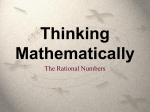The Rational Numbers
