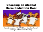 Choosing an Alcohol Harm Reduction Goal