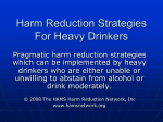 Alcohol Harm Reduction Strategies