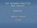 TOP: BUSINESS ANALYTICS MGT 2206 001