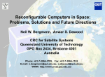 Reconfigurable Computers in Space: Problems, Solutions and