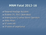MSHA - MSHA - Fatal Overview for MNM Fatal Powered Haulage