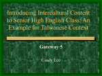 Introducing Intercultural Content in Senior High English Class