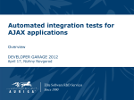AJAX application automated testing