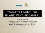 Towards a Model for ISLAMIC VENTURE CAPITAL