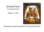 Animal Farm by George Orwell Allegory ~ Satire ~ Fable