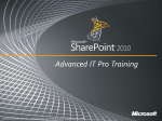 Document Management Capabilities and Features in SharePoint 2010