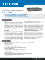 TL-SL2210WEB Gigabit Uplink Web Smart Switch