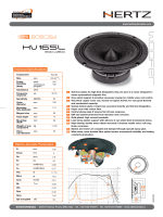 Electro-Acoustic Parameters 200 watt Technical Specifications