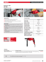 Hilti UH 700 Specification sheet