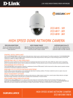 HIGH SPEED DOME NETWORK CAMERA - D-Link