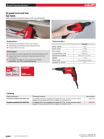 Hilti SD5000 Specification Sheet