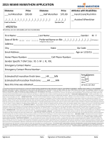 2015 MIAMI MARATHON APPLICATION
