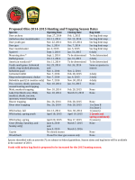 Proposed Ohio 2014-2015 Hunting and Trapping Season Dates