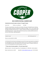 2015 cooper football summer camp