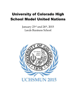 2015 Conference Schedule - Colorado Model United Nations