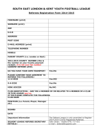 Referee Registration Form Season 2014-2015