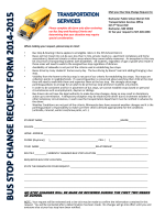 bus stop change request form 2014-2015