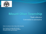 Mount Olive Township Trash Collection Conversion to Automation