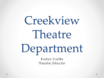 Creekview Theatre Department