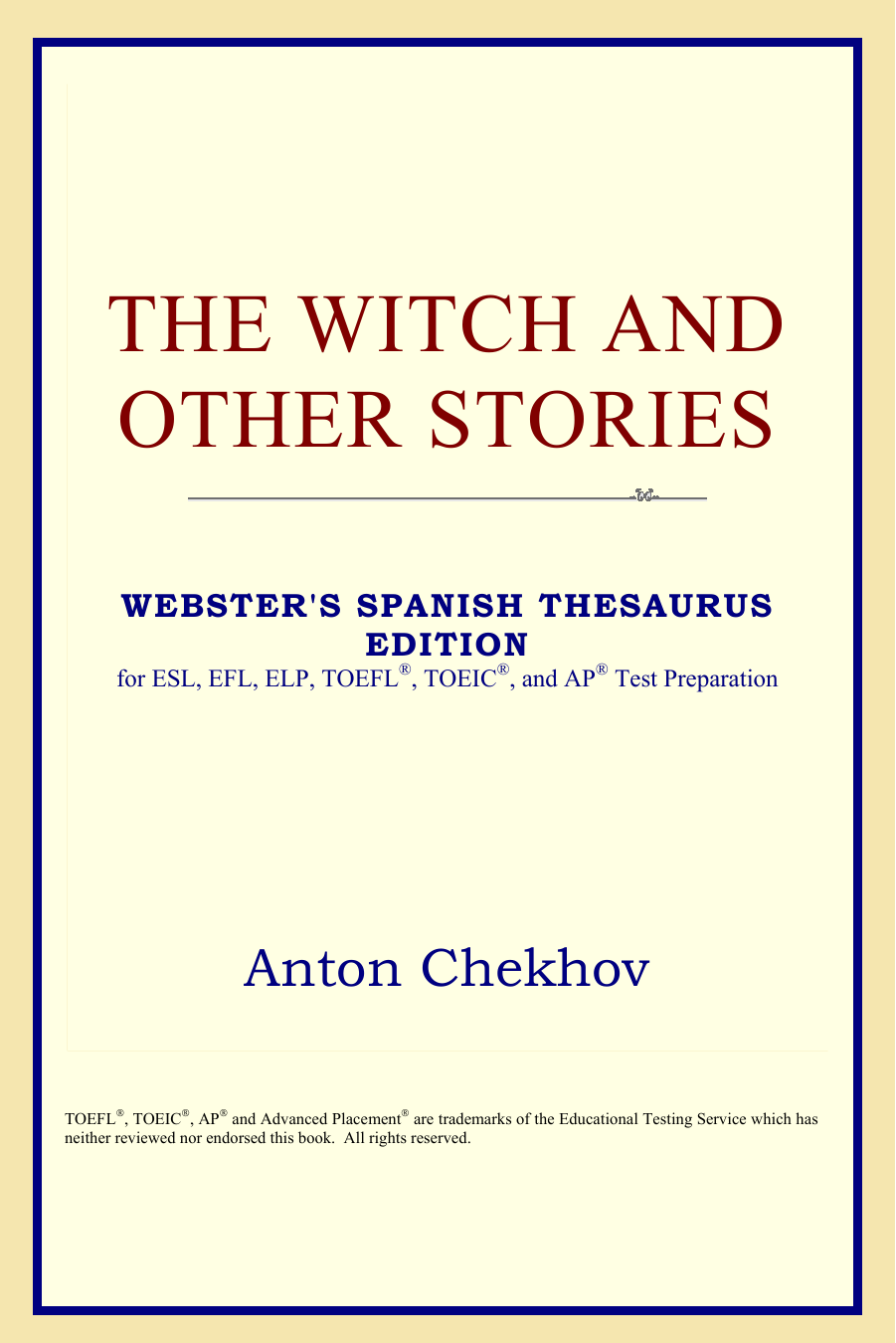 Anton Chekhov The Witch And Other Stories Websters Spanish