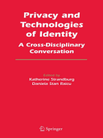 Katherine Strandburg Daniela Stan Raicu - Privacy and Technologies of Identity- A Cross-Disciplinary Conversation (2005)